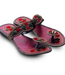 Buy multicolor Synthetic Leather casual wear traditional footwear for women footwear online