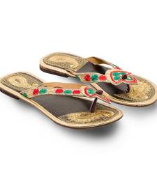 Buy multicolor Leather casual wear traditional footwear for women footwear online