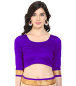 Buy Violet solid art silk readymade blouse