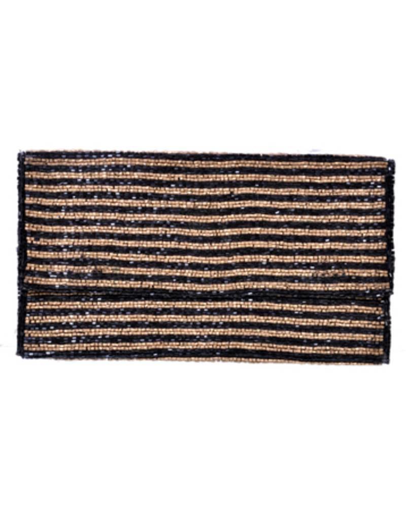 buy beige black silk clutch online. Black Bedroom Furniture Sets. Home Design Ideas