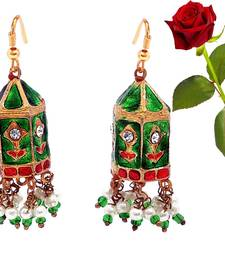 Buy Multicolor Big Bali Fashion Earring Valentine Gift valentine-gift online