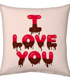Buy Pink Designer Romantic Printed Filled Cushion valentine-gift online