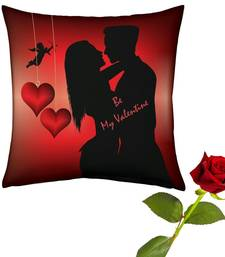 Buy Romantic Couple Print Cushion Rose Valentine Gift valentine-gift online