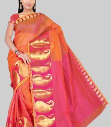Buy Pavecha's Mangalgiri Chettinad Cotton Sari No 556 Pink DNO 509 cotton-saree online
