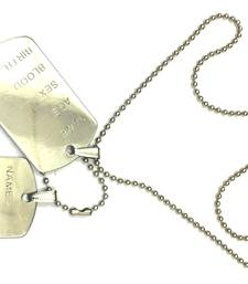 Buy Matte Finish Classic Duo Engraved Silver Dog Tag gifts-for-him online