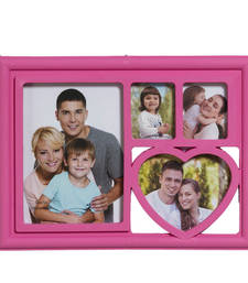 Buy Charming Pink 4 Pictures Collage Photo Frame photo-frame online