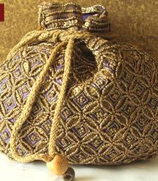 Buy Potli Bag Purse Clutch Ethnic Traditional Beads Zari Sequins Wedding Return Gift potli-bag online