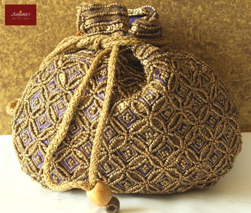Wedding Return Gift Bags : Bag Purse Clutch Ethnic Traditional Beads Zari Sequins Wedding Return ...