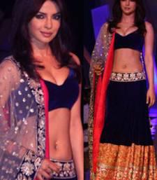 Buy Priyanka chopra bollywood blue replica lehenga bollywood-lehenga online