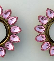 Buy Designer T-Lite Diya Holder (Set of 2) With Kundans for Temple, Home Decor, Gifting  candle online