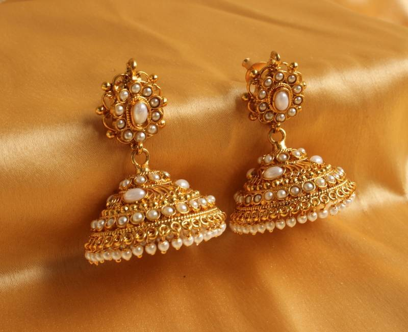 Buy Gorgeous Royal Huge Pearl Jhumkka Earrings Online