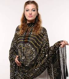 Buy Black Bandhej Dupatta stole-and-dupatta online