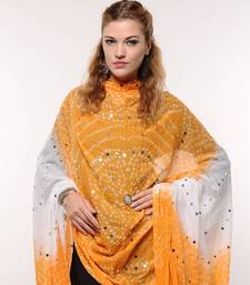 Buy Yellow White Bandhej Dupatta stole-and-dupatta online
