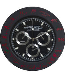 Buy Amazing Black Round Analog Wall Clock wall-clock online