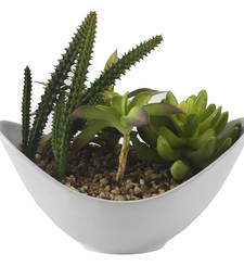 Buy Green Artificial Plant with Ceramic Pot pot online