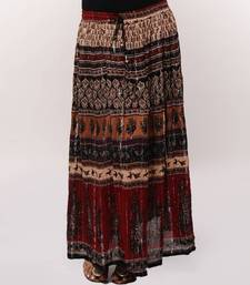 Buy Jaipuri Cotton Skirt skirt online