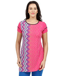 Buy Pink printed Knit tunics tunic online