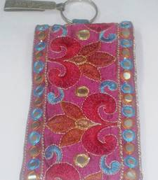 Buy Mirror Work, Multi Colored Flower Mobile Cover other-home-furnishing online