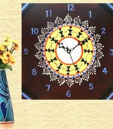Buy Wooden Wall Clock - Warli Celebration wall-clock online