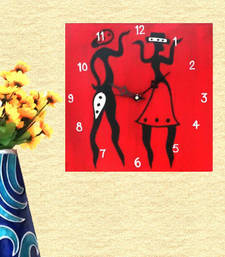 Buy Wooden Wall Clock - Couple wall-clock online