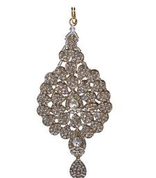 Buy Stone CZ Passa Jhoomar White And Golden Hair Accessory hair-accessory online