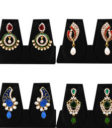 Buy Exquisite Gold Plated AD Combo Earring For Women jewellery-combo online