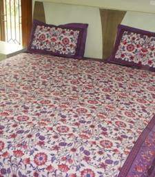Buy Floral Print Cotton Bedsheet other-home-furnishing online