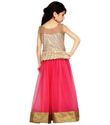 Buy New Arrvial Kids Party Wear Soft Net Pink Color Lehenga Choli kids-lehenga-choli online