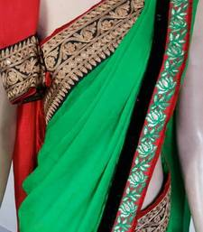 Buy Green crepe crepe-saree online