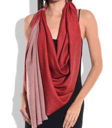 Buy Reversible Red and Grey Pure Wool Shawl shawl online
