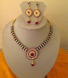 Buy LOW PRICE EVER!! Kundan Multi Stone Necklace set for Sale Necklace online