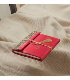 Buy Recycled Handmade Paper Travellers Diary With Silk Cover_08 engineers-day-gift online