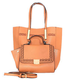 Buy Brown fashion tote bag tote-bag online