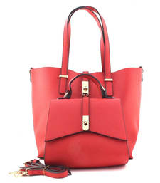 Buy Red fashion tote bag gifts-for-girlfriend online