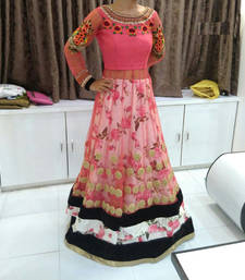 Buy Multicolor dupion silk embroidered unstitched lehenga-choli lehenga-choli online