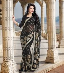 Buy Black beauty designer georgette saree new-year-gift online
