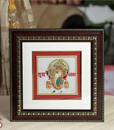 Buy Gold Painted Lord Ganesh Hanging wall-art online