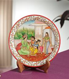Buy MUGHAL Painted Marble Plate decorative-plate online
