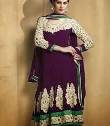 Buy Designer anarkali suit with great embroidery congratulation-gift online
