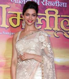 Deepika Bollywood Replica White Net Saree shop online