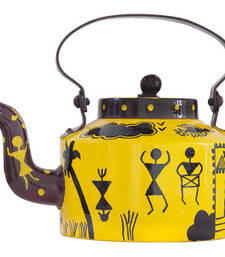 Buy Warli hamlet hand painted kettle tea-kettle online