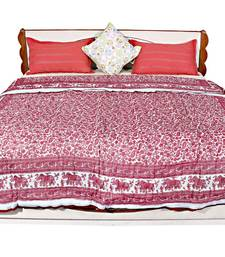 Buy Pink printed cotton quilts quilt online