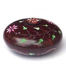 Buy Carved Marble Box - Red gifts-for-her online
