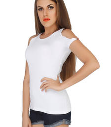 Buy White viscose tops top online
