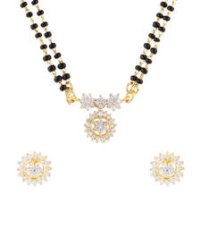 Buy White cubic zirconia yellow gold mangalsutra mangalsutra online