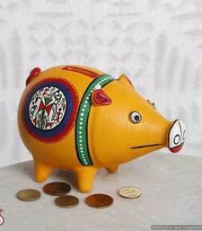 Buy Hand painted Piggy bank made of terracotta other-home-accessory online