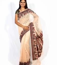 Buy Pure cotton Supernet Fancy Aanchal Border Saree cotton-saree online