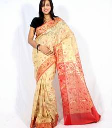 Buy Organza fancy check aanchal border saree organza-saree online