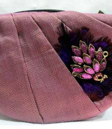Buy pink crescent clutch clutch online