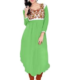 Buy Green georgette embroidered kurti kurtas-and-kurti online
